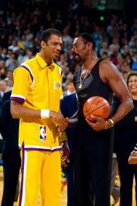 Kareem Abdul Jabbar and Wilt Chamberlain